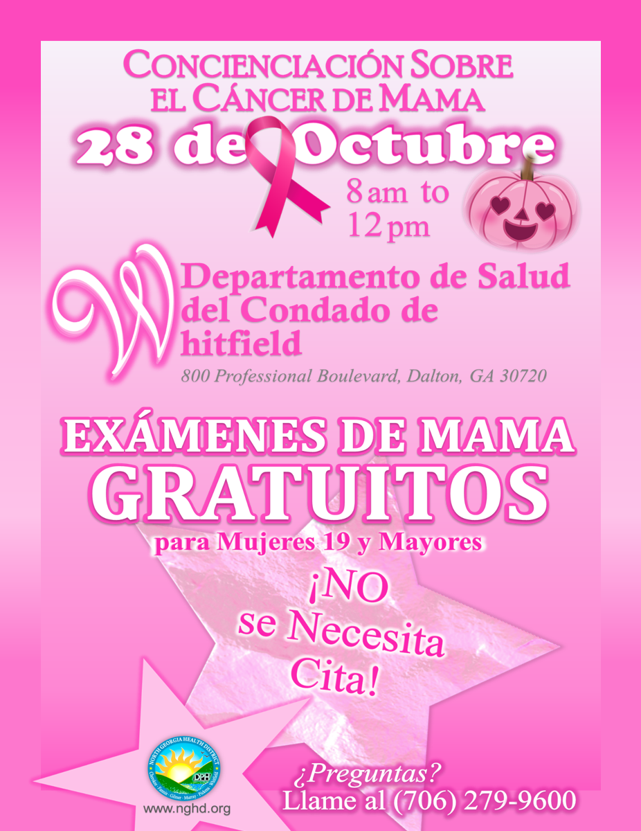 Free Breast Exams BCA Event WCHD Flyer Sp