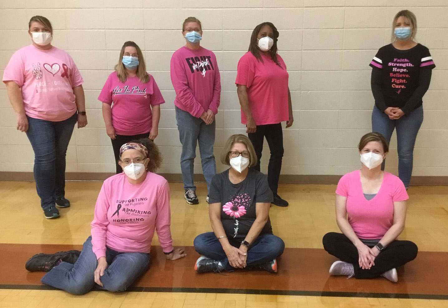 Murray County Health Dept Staff Poses for Breast Cancer Awareness